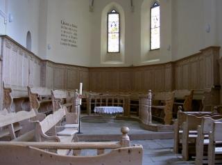 Engadin - Innenraum der Kirche von Ardez