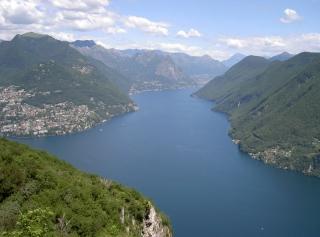 Ausblick auf den Luganer See vom Monte San Salvatore