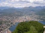 Ausblick auf Lugano vom Monte San Salvatore