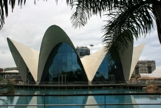 Moderne Gebäude im L´Oceanogràfic