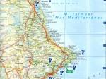 Karte der Costa Blanca